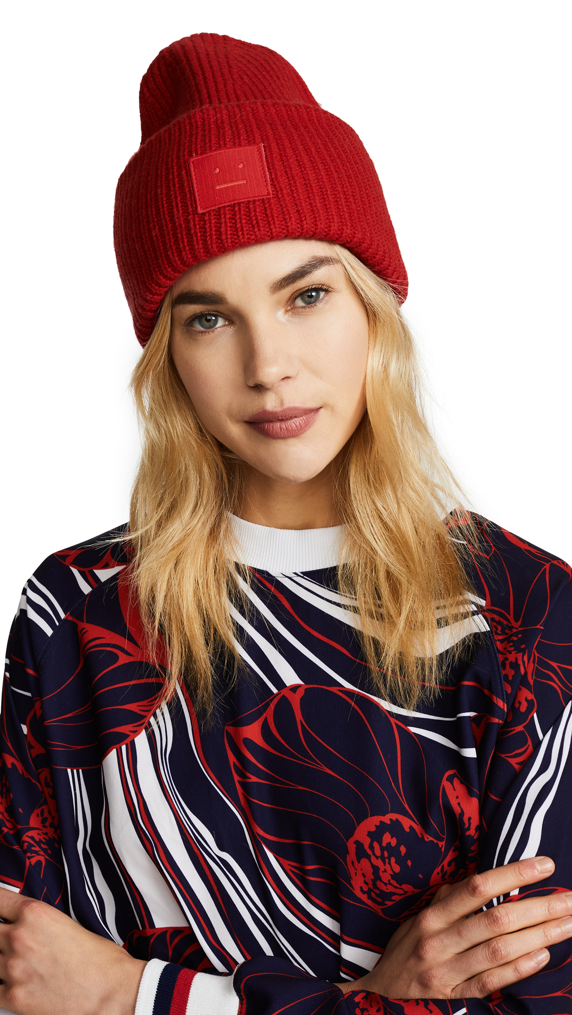Acne Studios Pansy S Face Hat - Tomato Red