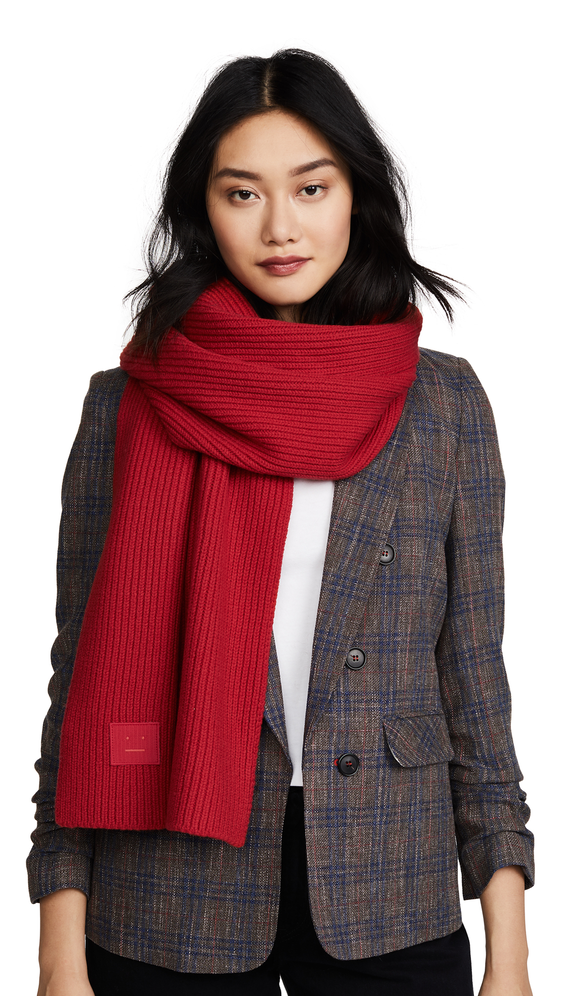 Acne Studios Bansy S Face Scarf - Tomato Red