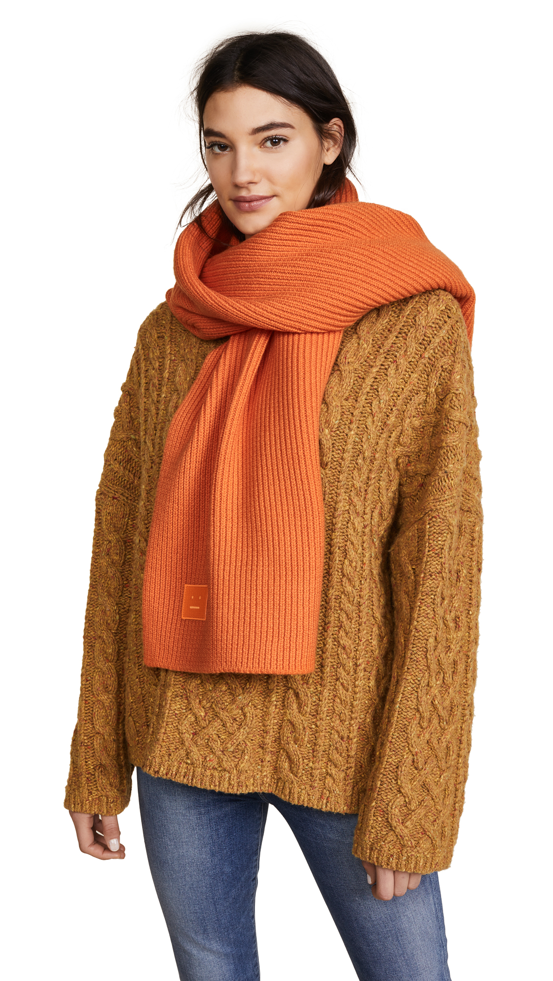 Acne Studios Bansy S Face Scarf - Geranium Orange