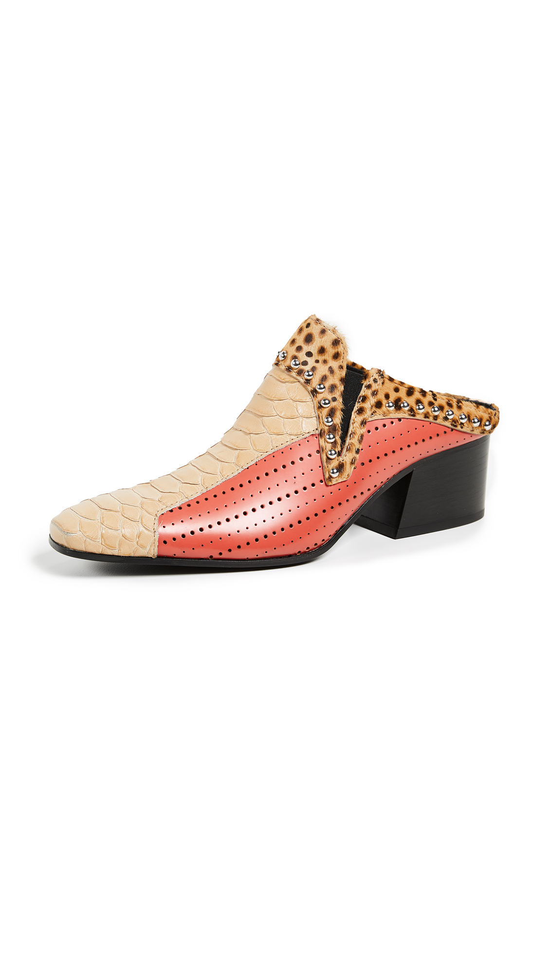 Acne Studios Karmir Multi Mules - Beige/Papaya Orange