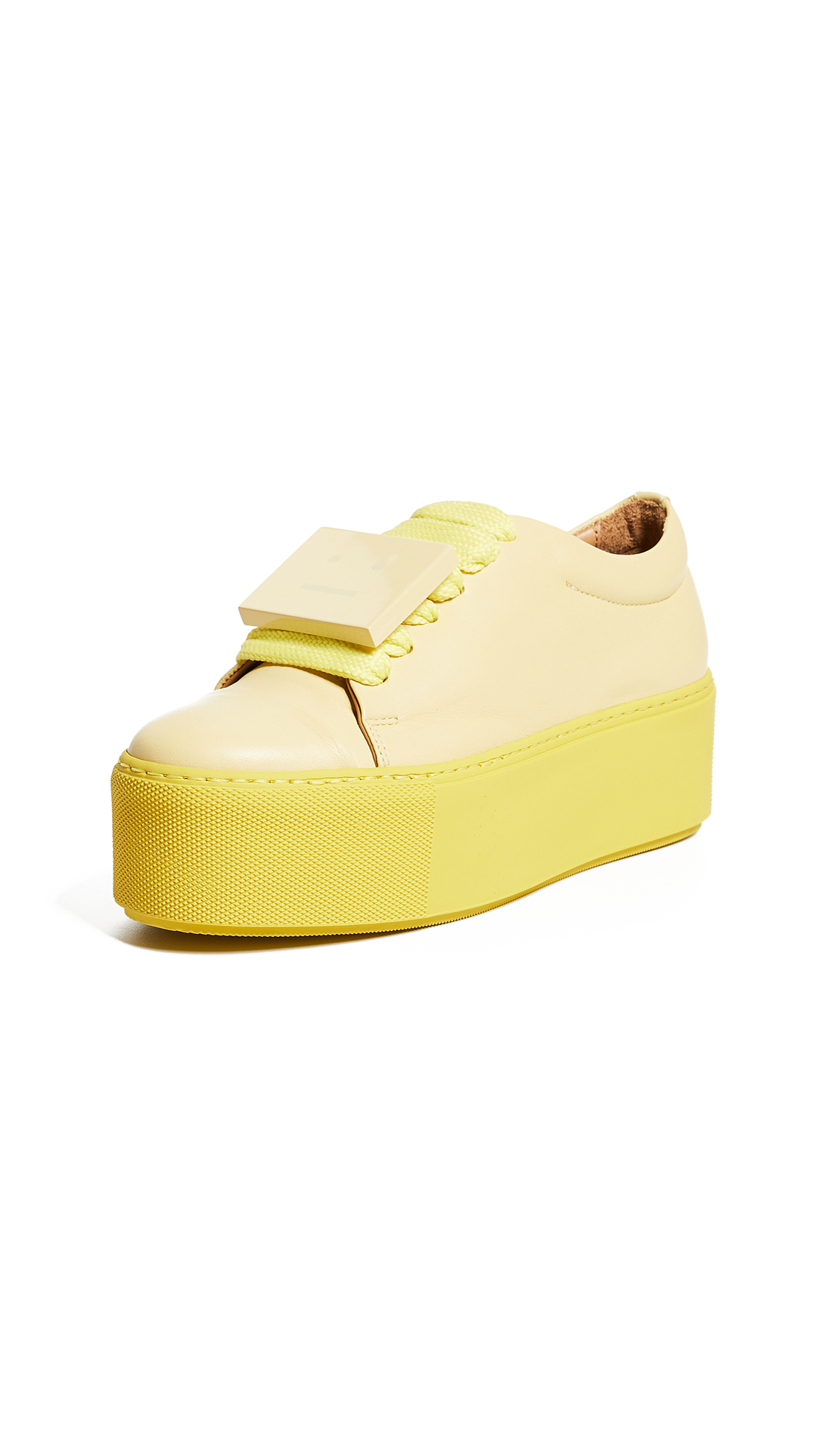 Acne Studios Drihanna Platoform Sneakers - Solid Pale Yellow