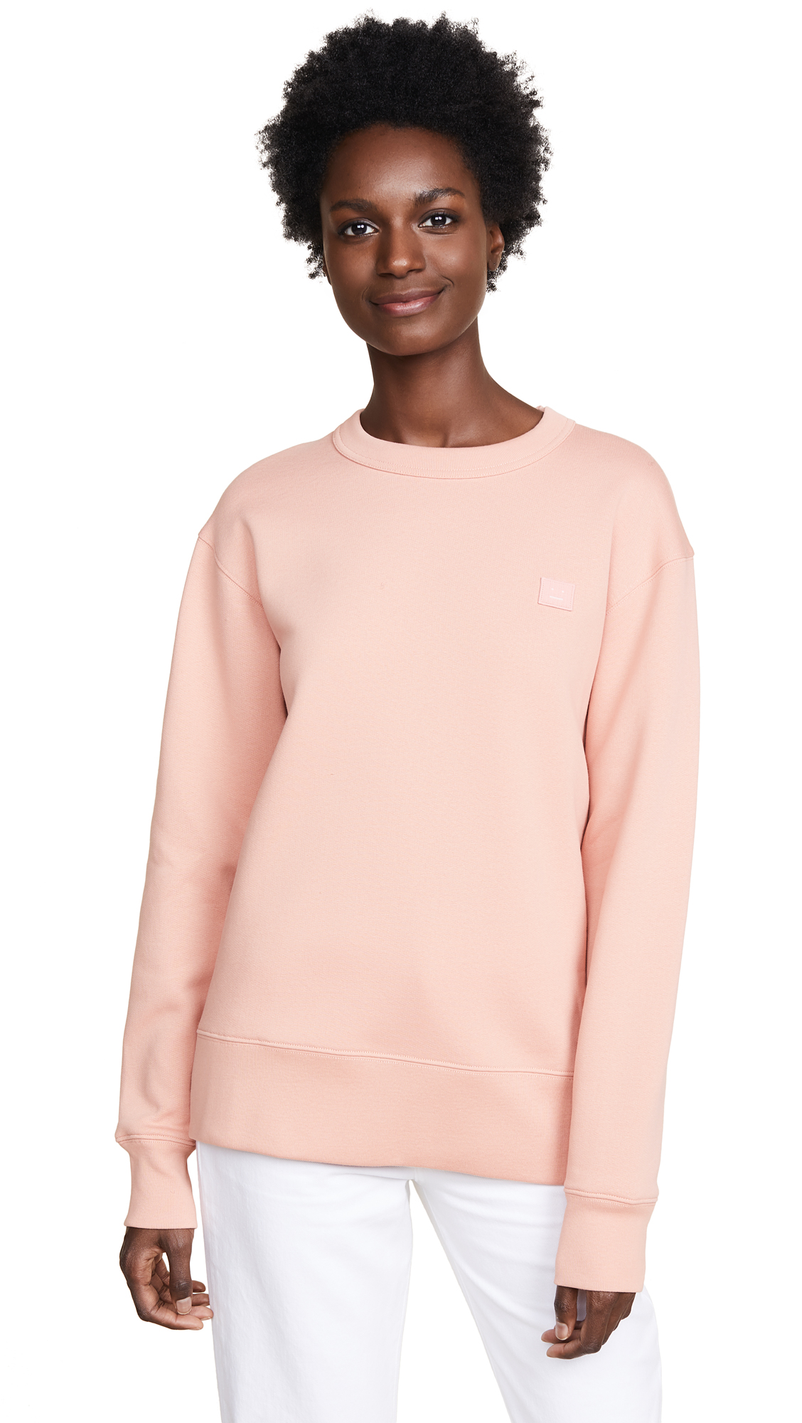 Fairview Face Sweatshirt, Pale Pink