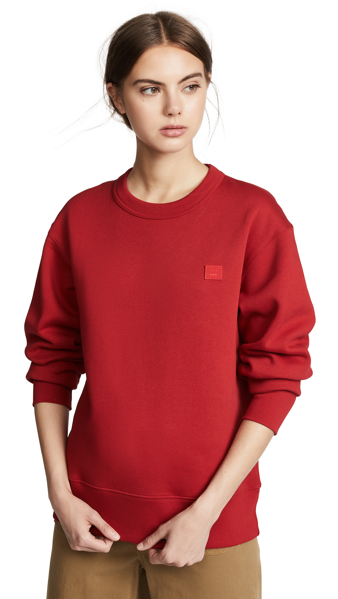 Fairview Face Sweatshirt, Ruby Red