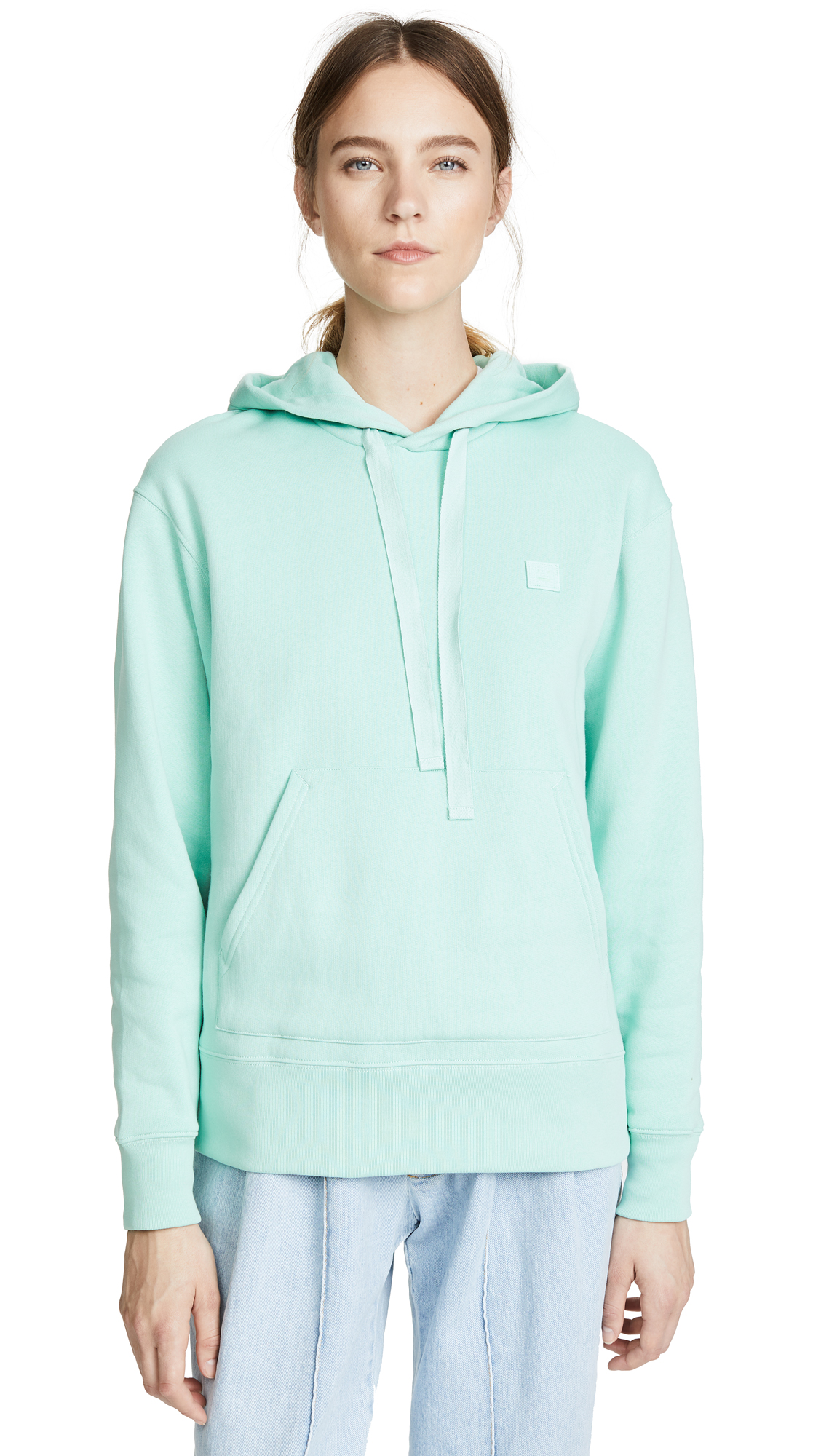 Acne Studios Ferris Face Hoodie In Mint Green