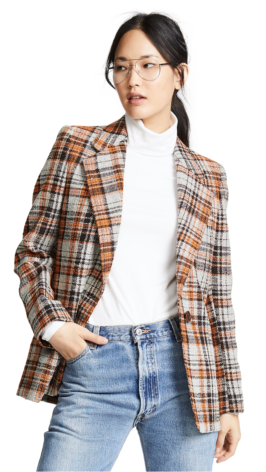 Acne Studios Plaid Blazer