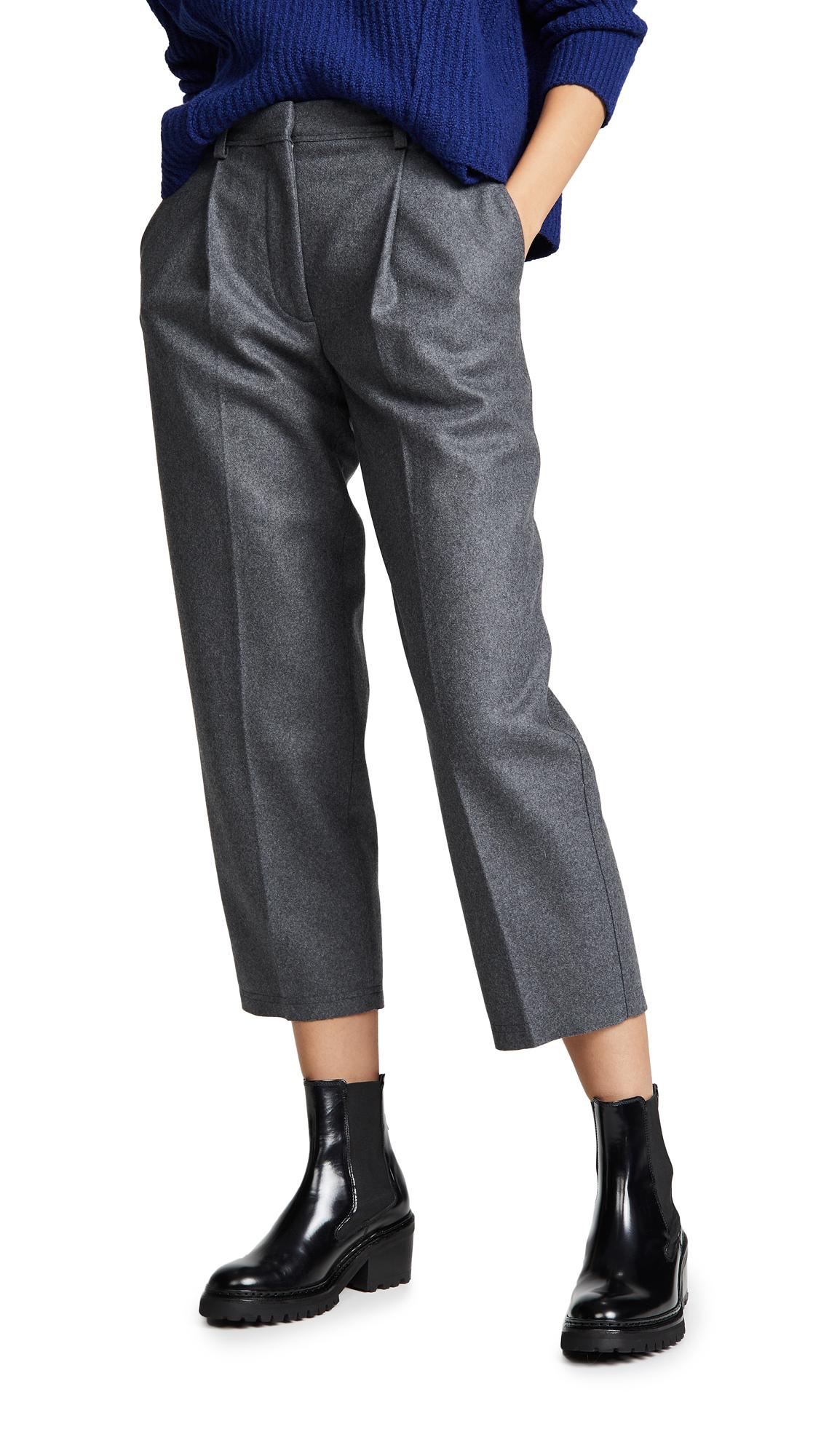 Acne Studios Wool Trousers In Grey Melange