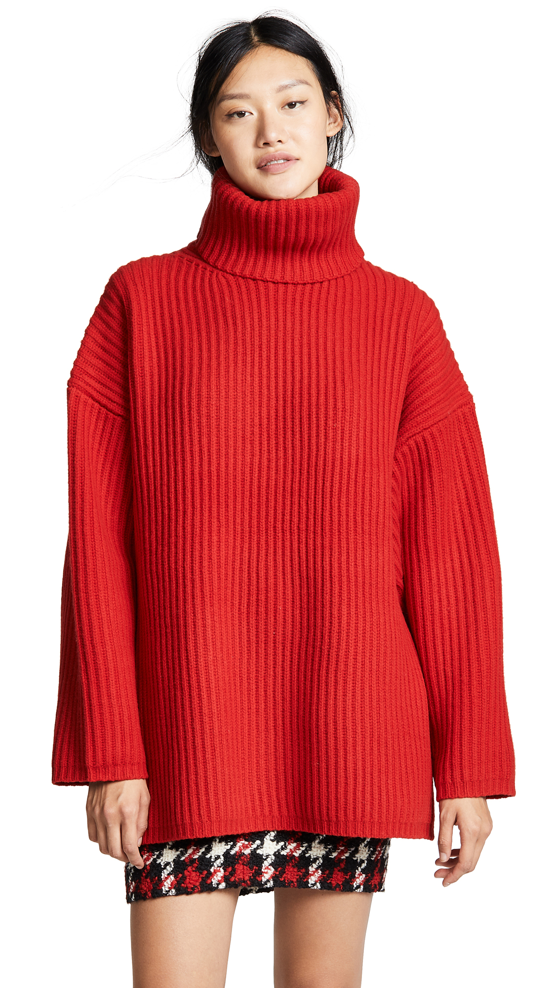 Acne Studios Oversized Turtleneck Sweater - Red