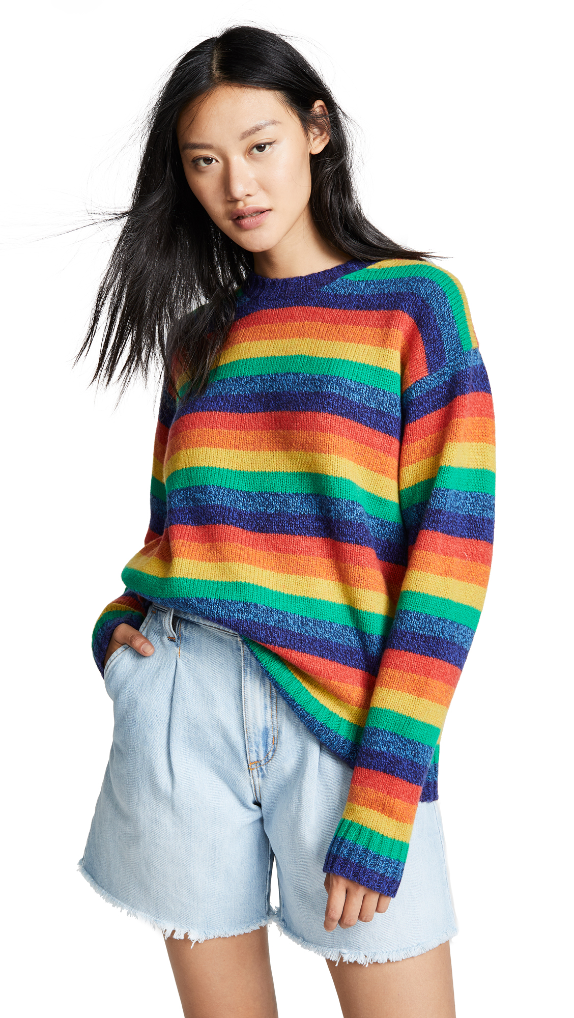 Acne Studios Samara Rainbow-Stripe Wool Sweater In Multi ... c79d0e09c9d