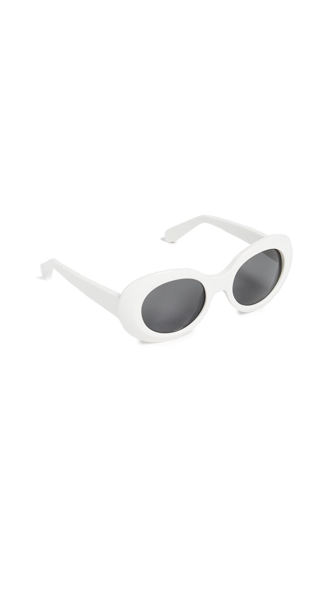 Acne Studios Mustang Sunglasses - Off White/Black