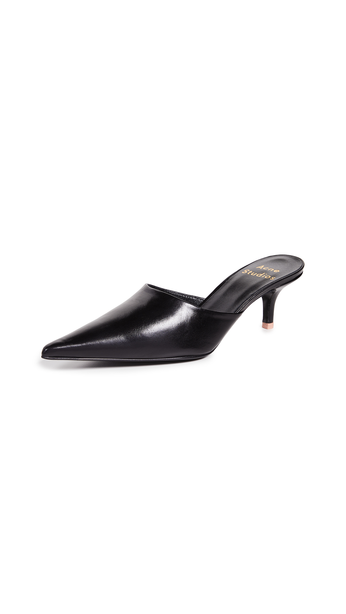 Acne Studios Mule Pumps In Black