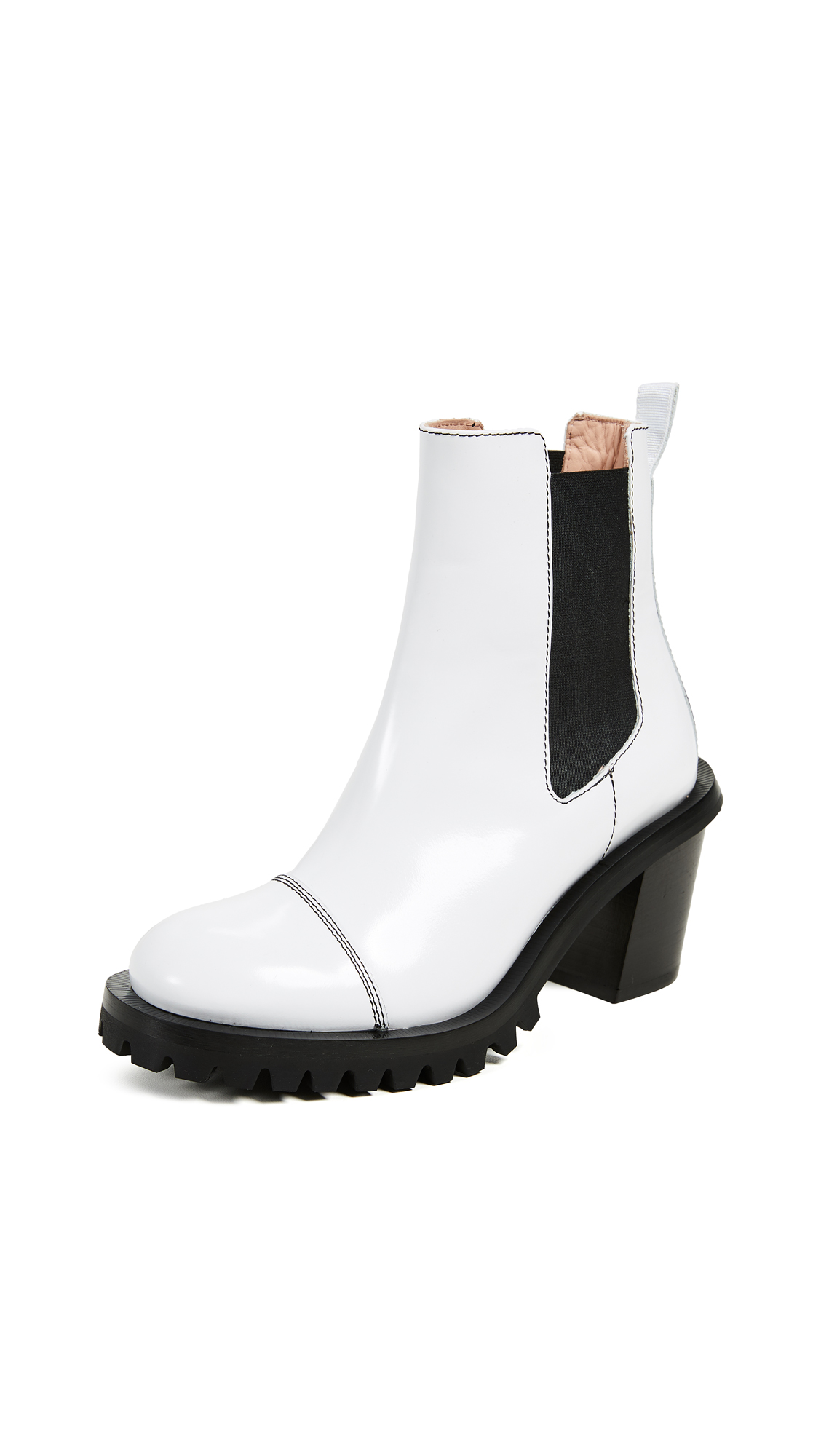 Acne Studios Chelsea Booties - White