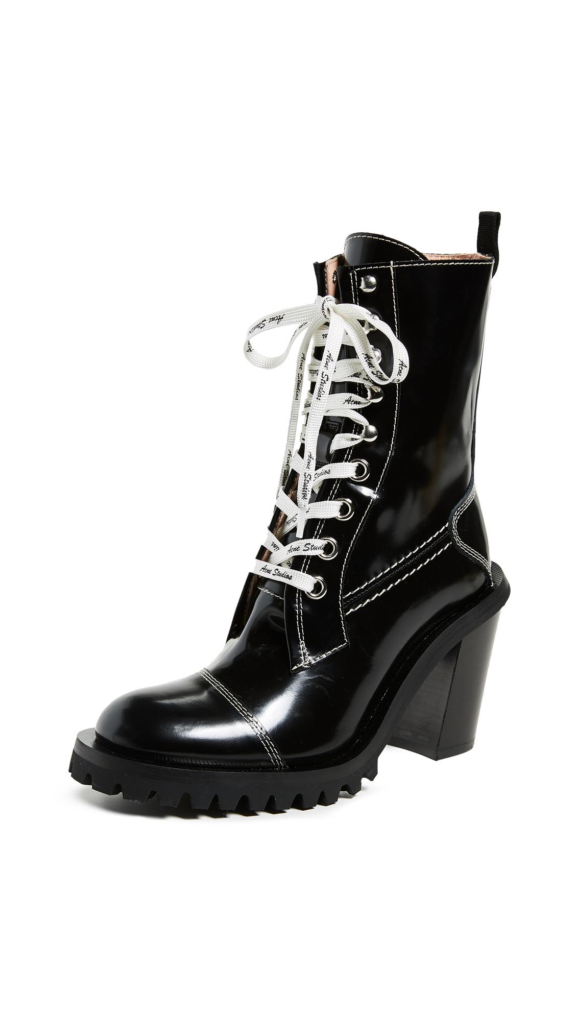 Acne Studios Heeled Combat Boots - Black