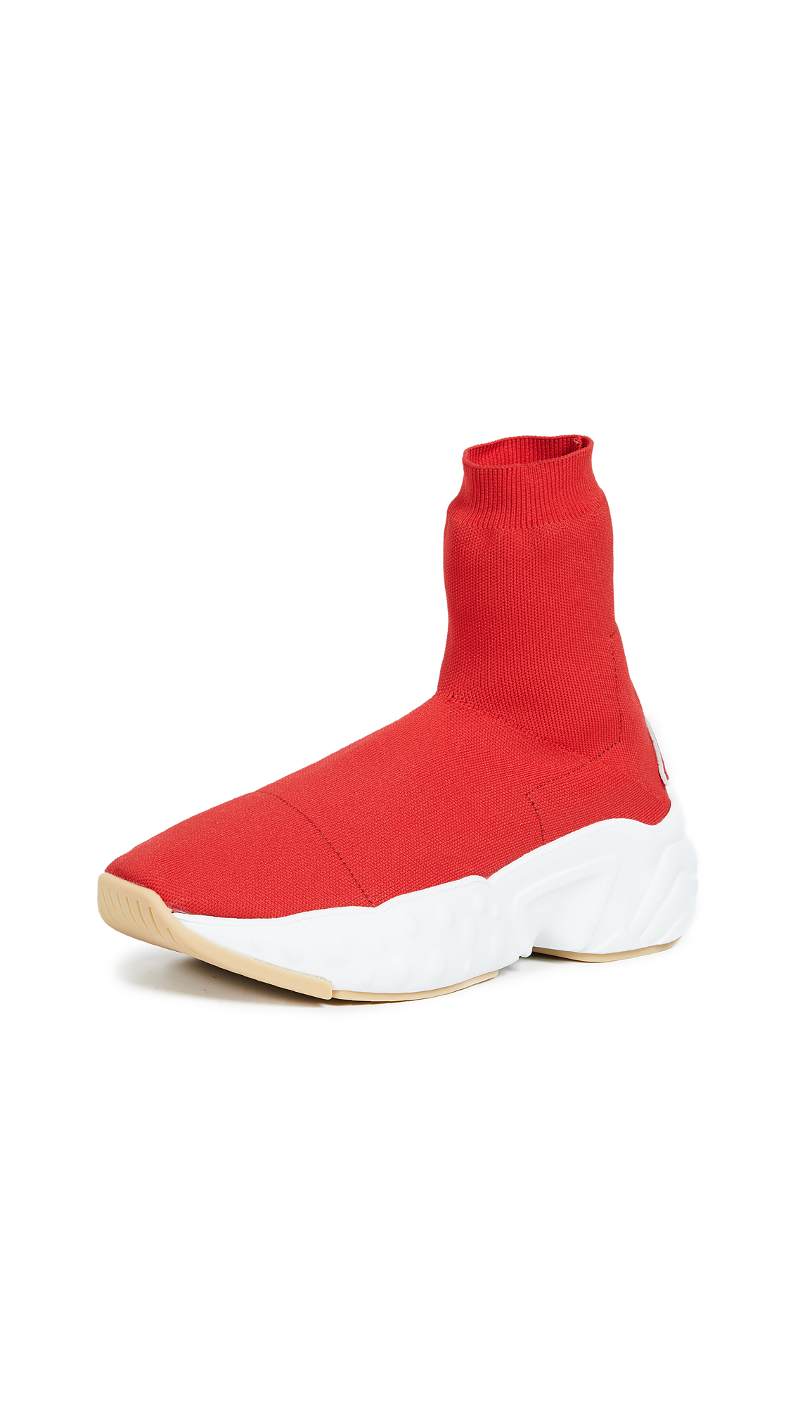 Acne Studios Tall Sock Sneakers In Red/Red