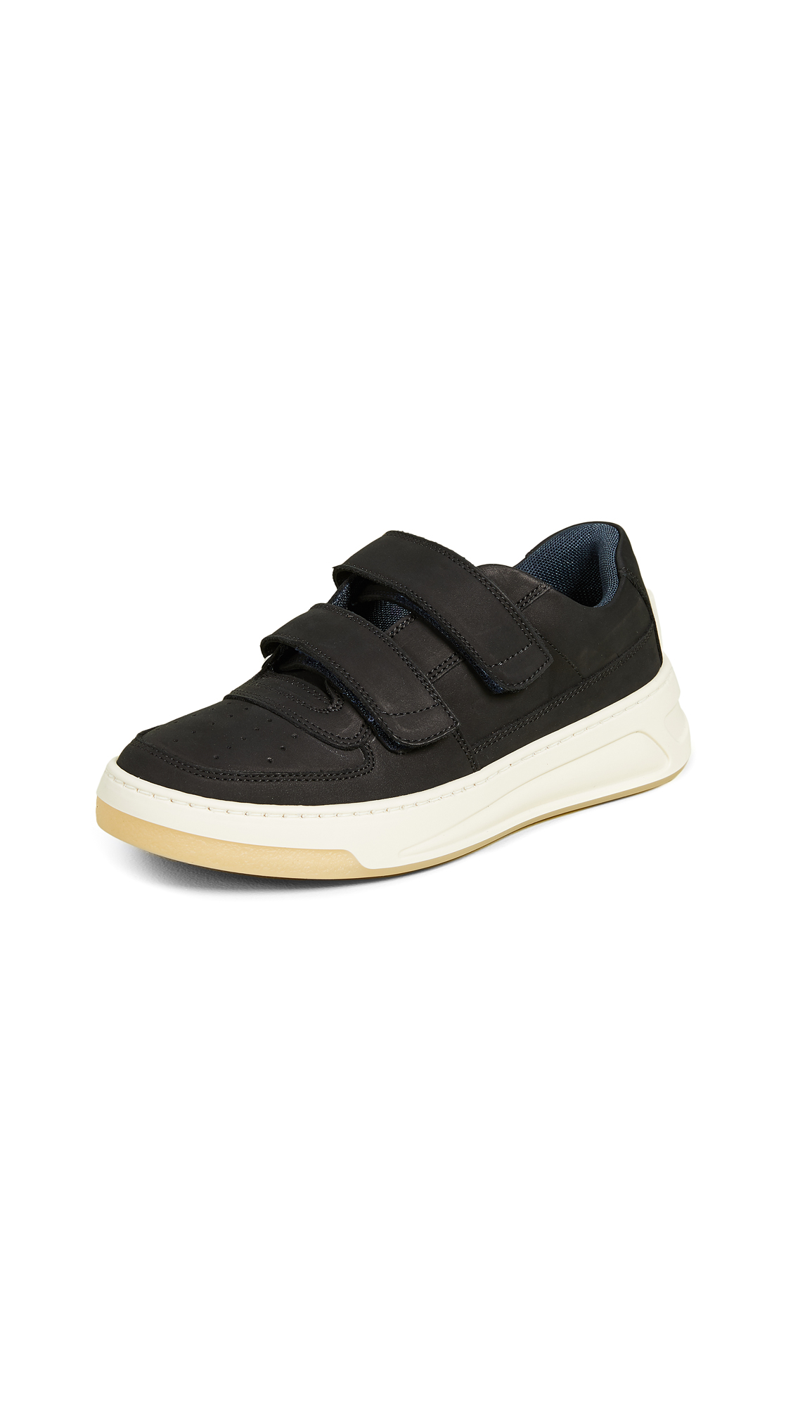 Acne Studios Steffey Nubuck Sneakers In Black/White