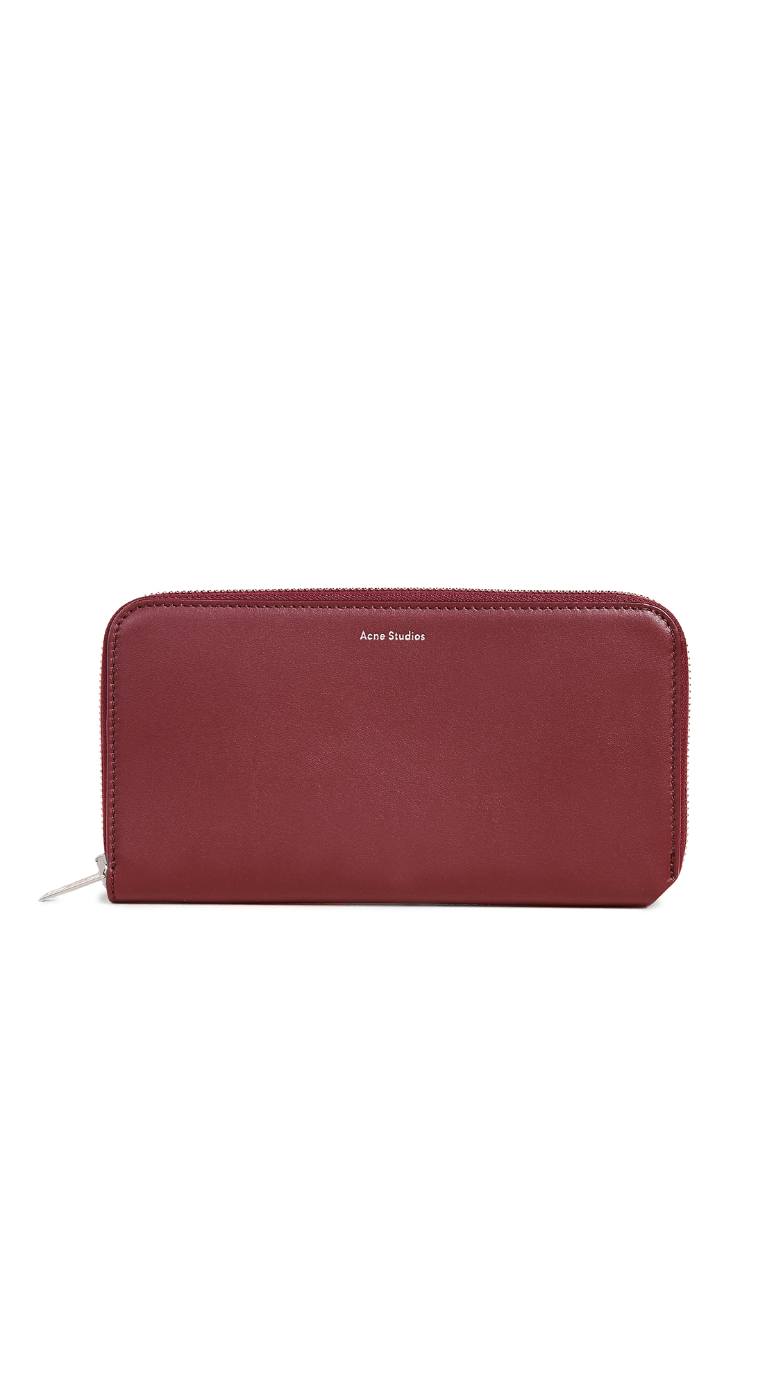 Acne Studios Flourite S Continental Wallet In Burgundy