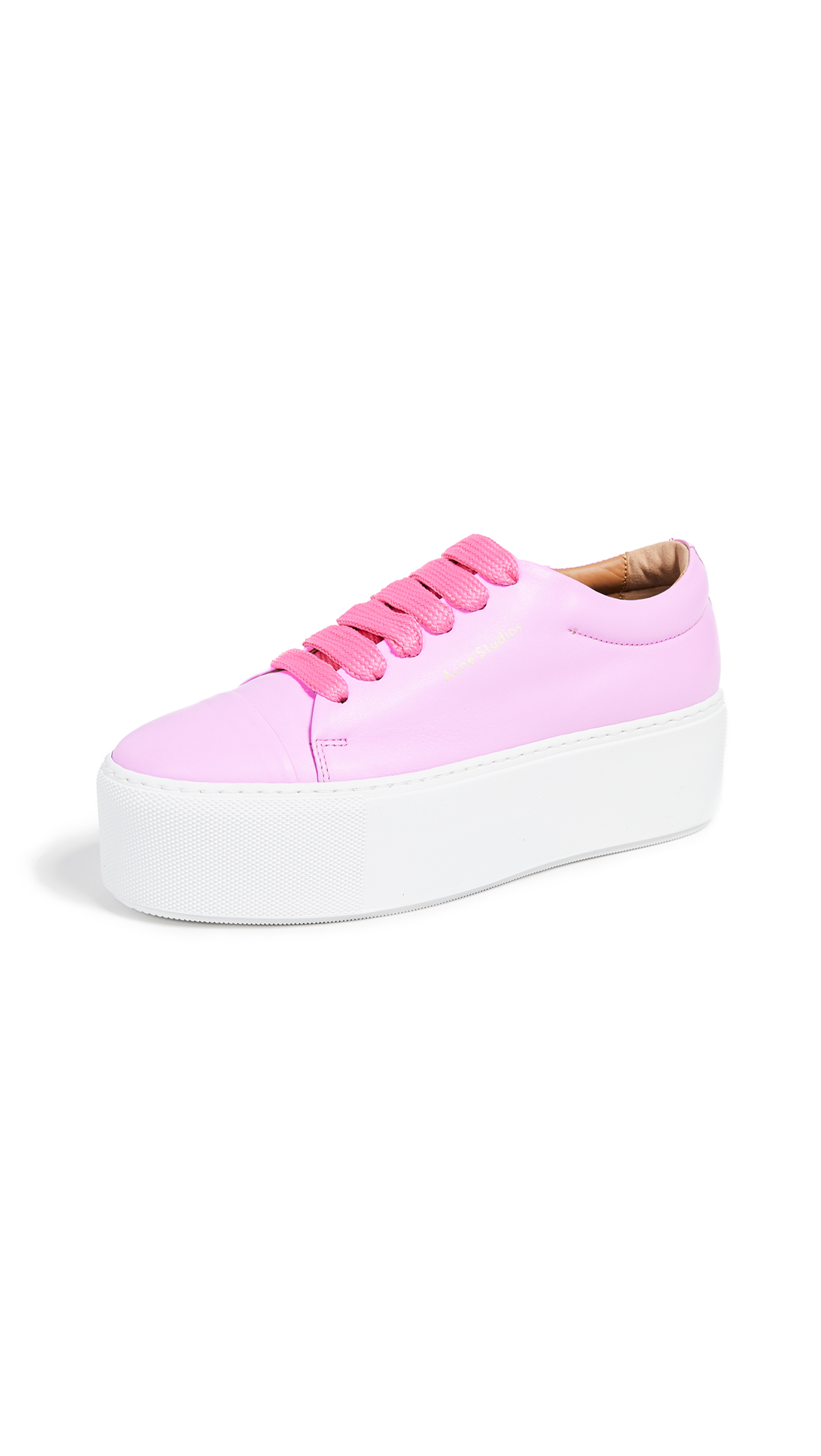 Acne Studios Drihanna Logo Sneakers - Pink/White