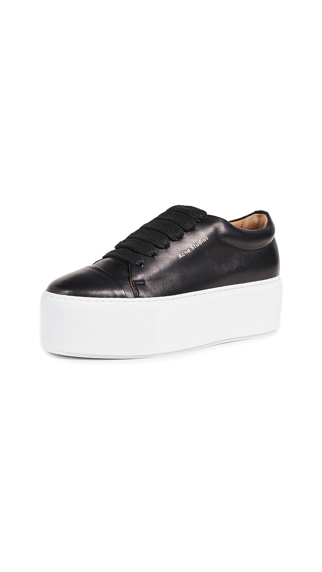 Acne Studios Drihanna Logo Sneakers - Black/White