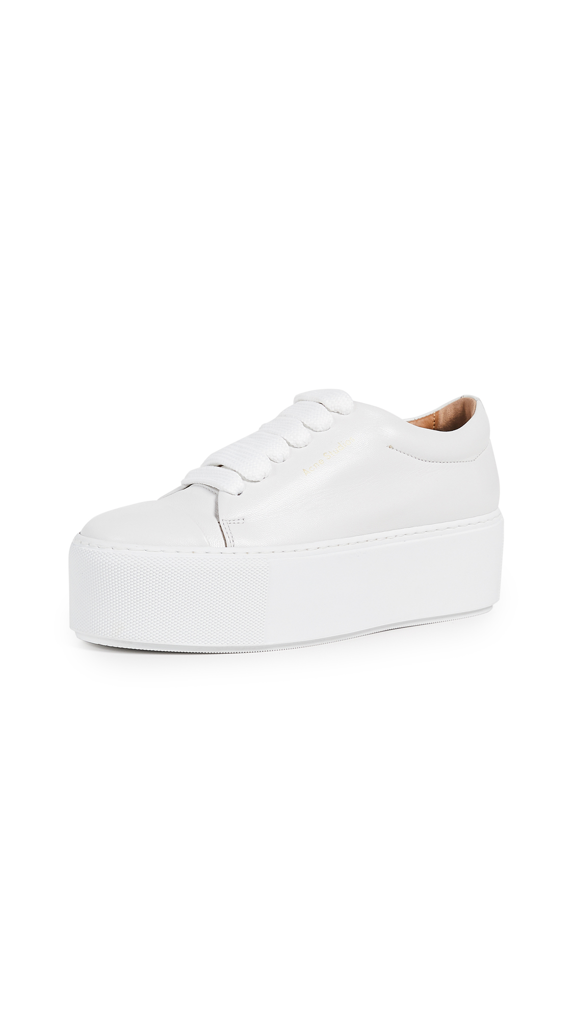 Acne Studios Drihanna Logo Sneakers - White/White