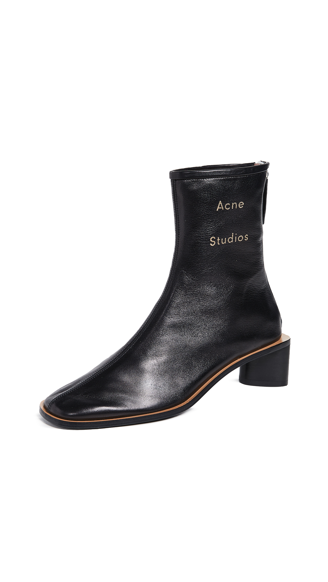 Acne Studios Bertine Booties - Black/Black