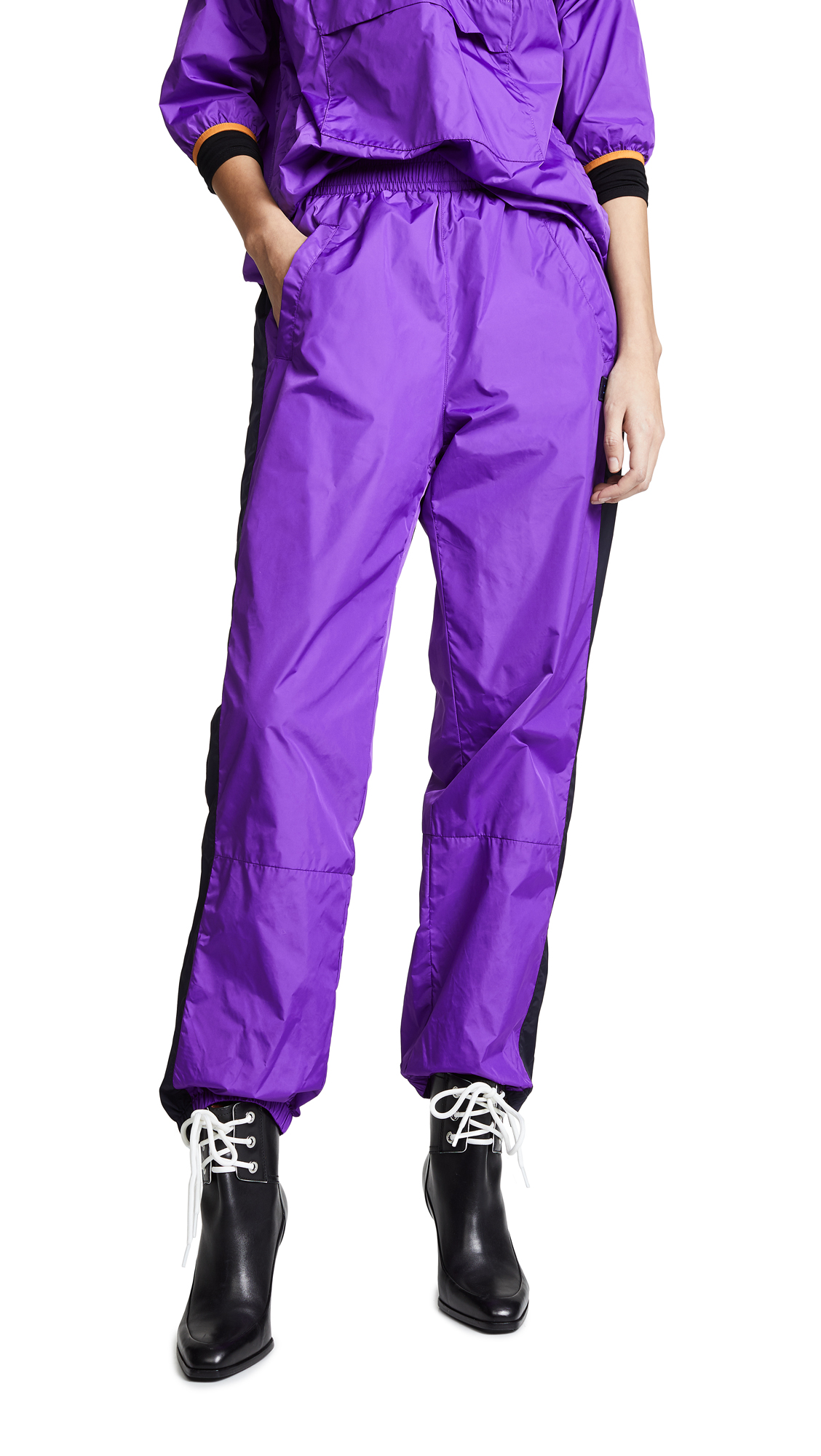 Acne Studios Phoenix Nylon Pants - Violet Purple