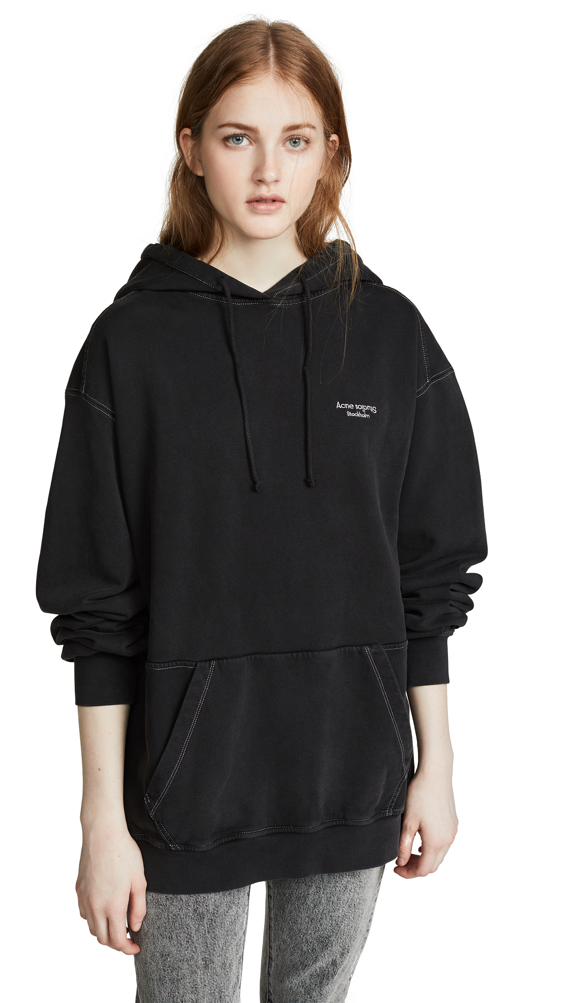 Acne Studios Weny Acid Wash Sweatshirt - Black