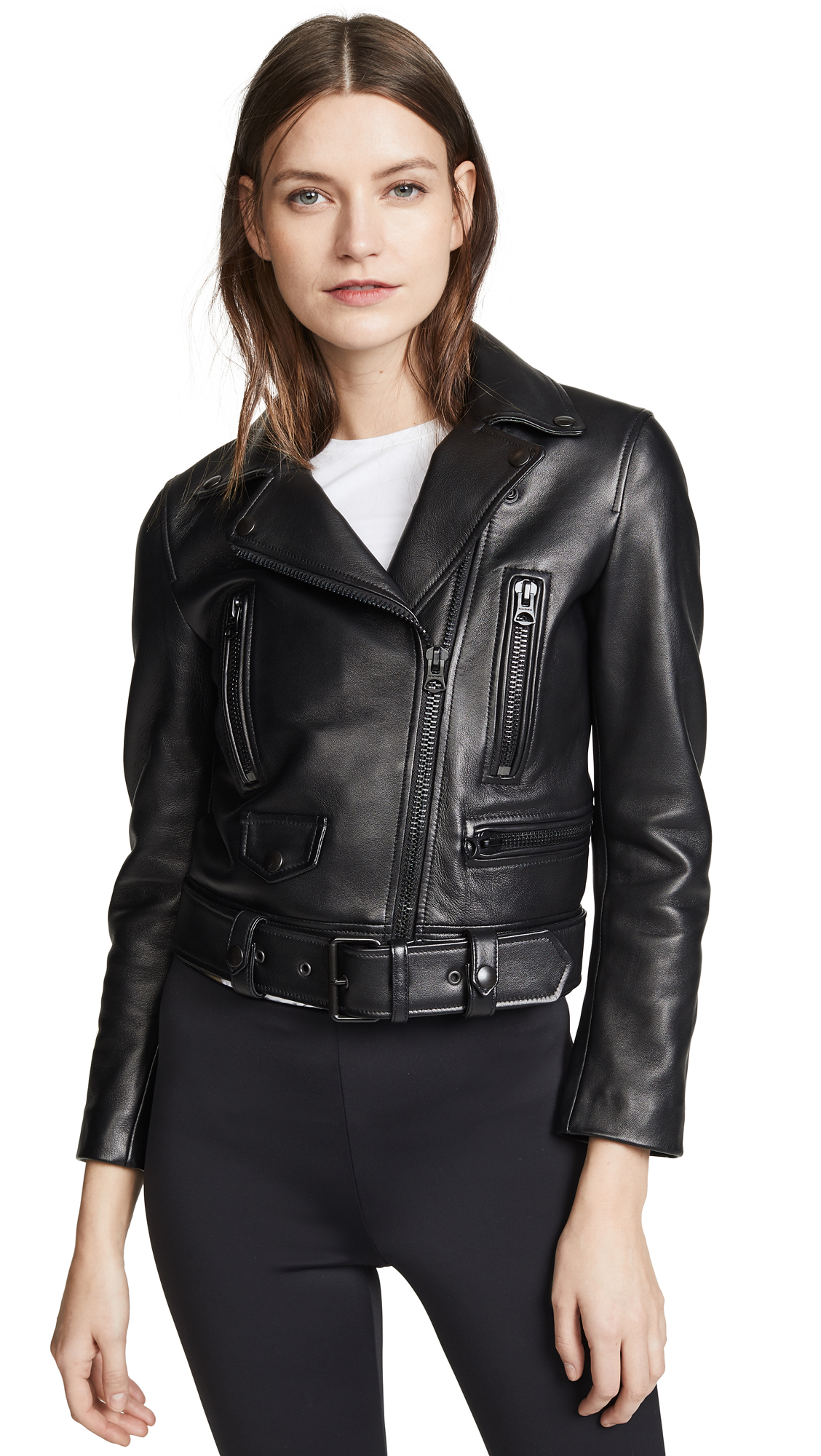 Acne Studios Leather Mock Jacket - All Black