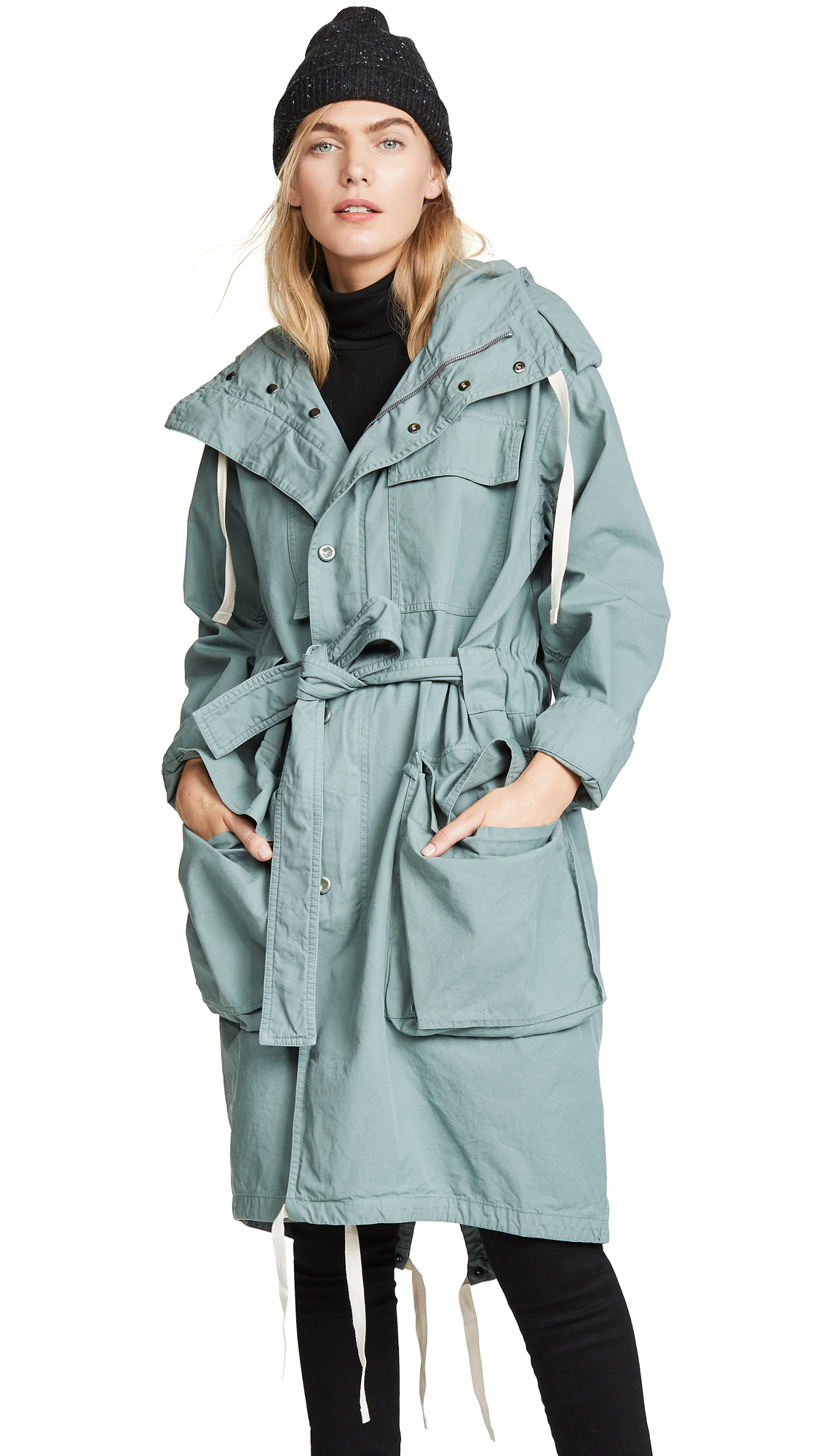 Acne Studios Oline Dyed Chino Coat - Dusty Green
