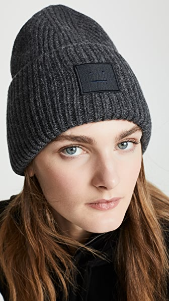 Acne Studios Pansy N Face Hat In Charcoal Melange  137c3f504