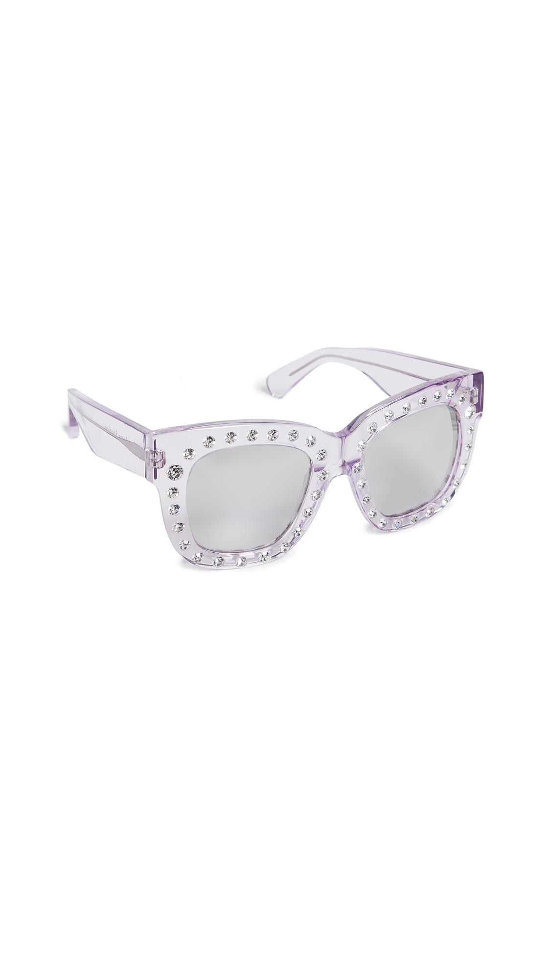 Acne Studios Library Sunglasses - Lilac/Silver