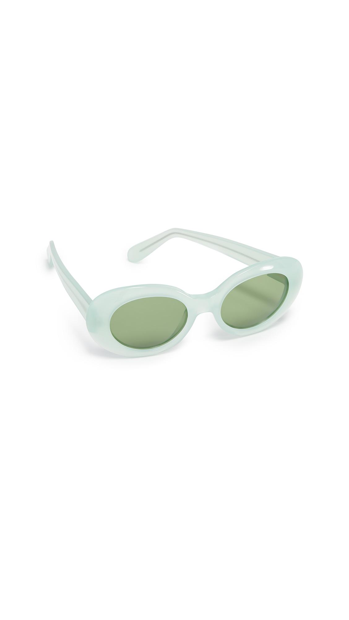 Acne Studios Mustang Sunglasses - Green/Green