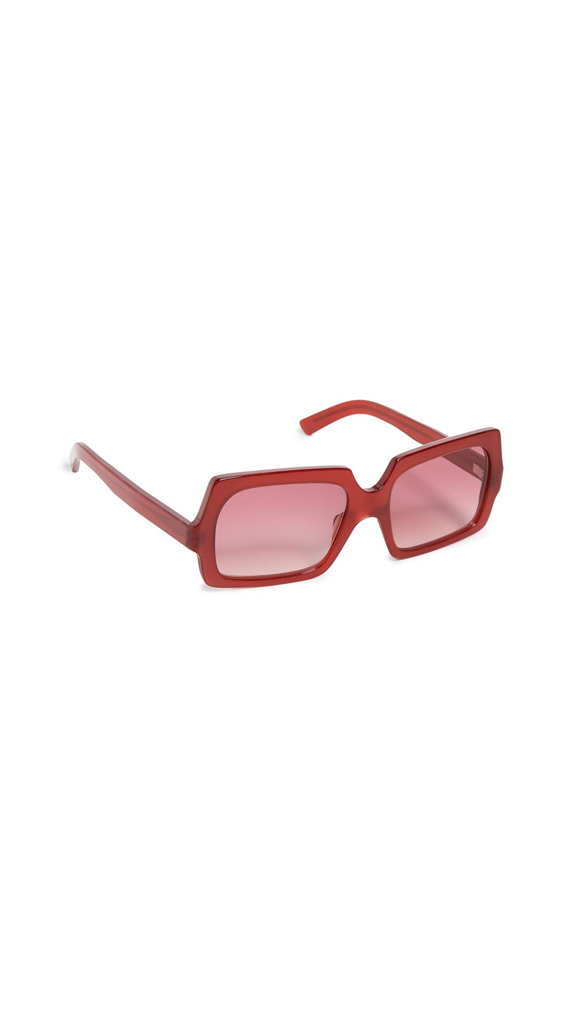 Acne Studios George Large Sunglasses - Burgundy/Burgundy