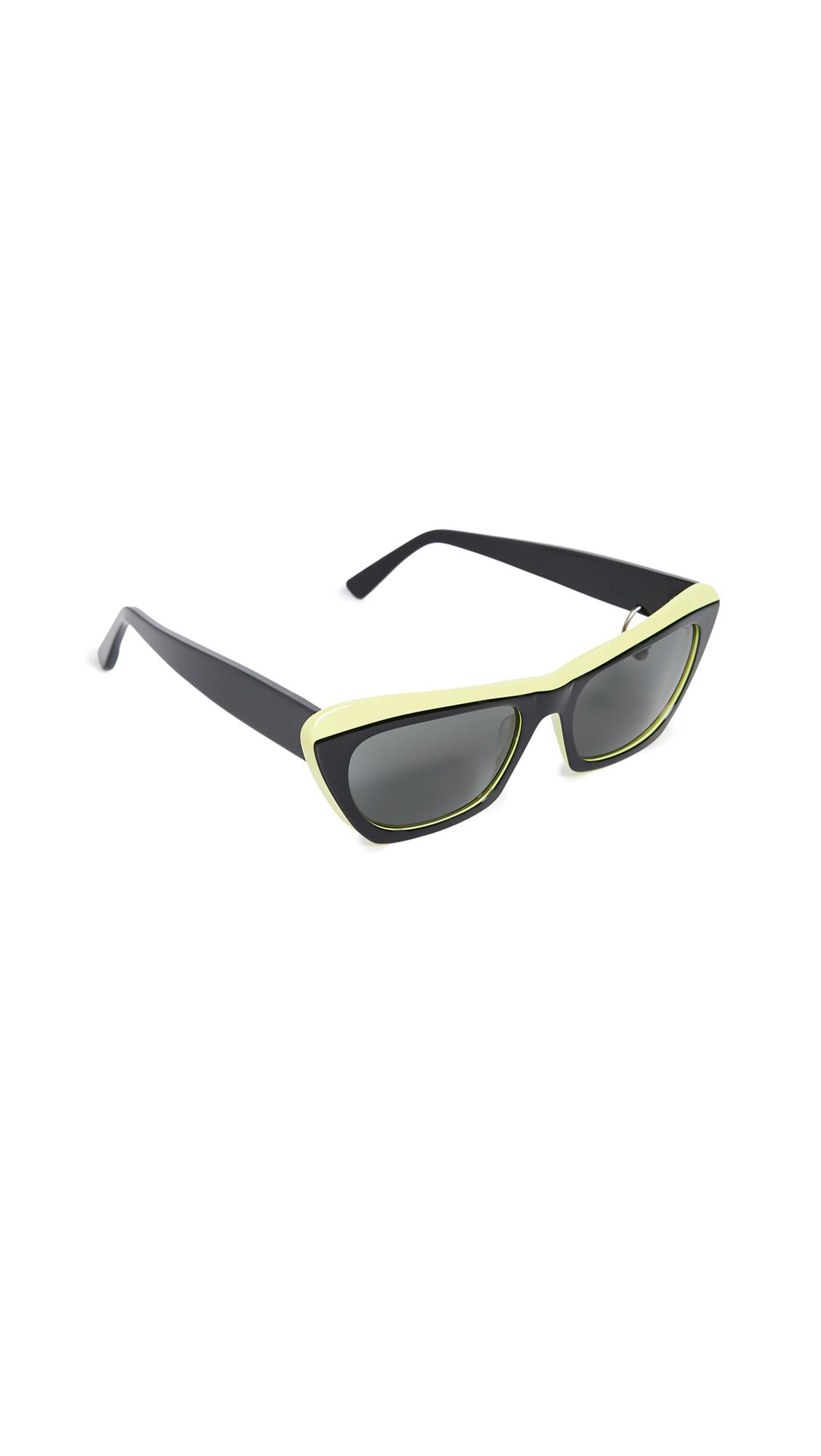 Acne Studios Azalt Sunglasses - Black/Yellow