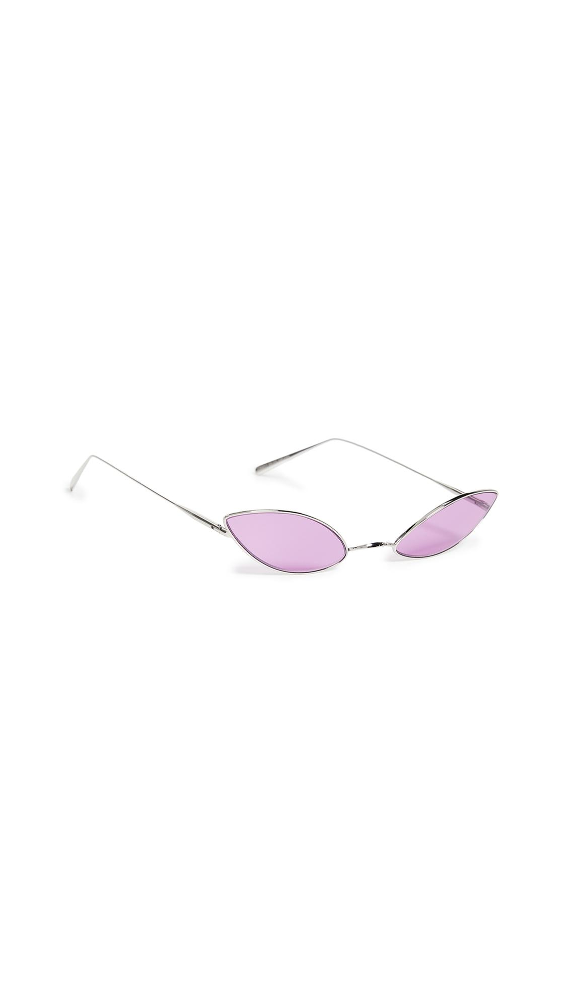 Acne Studios Astaria Sunglasses - Silver/Purple