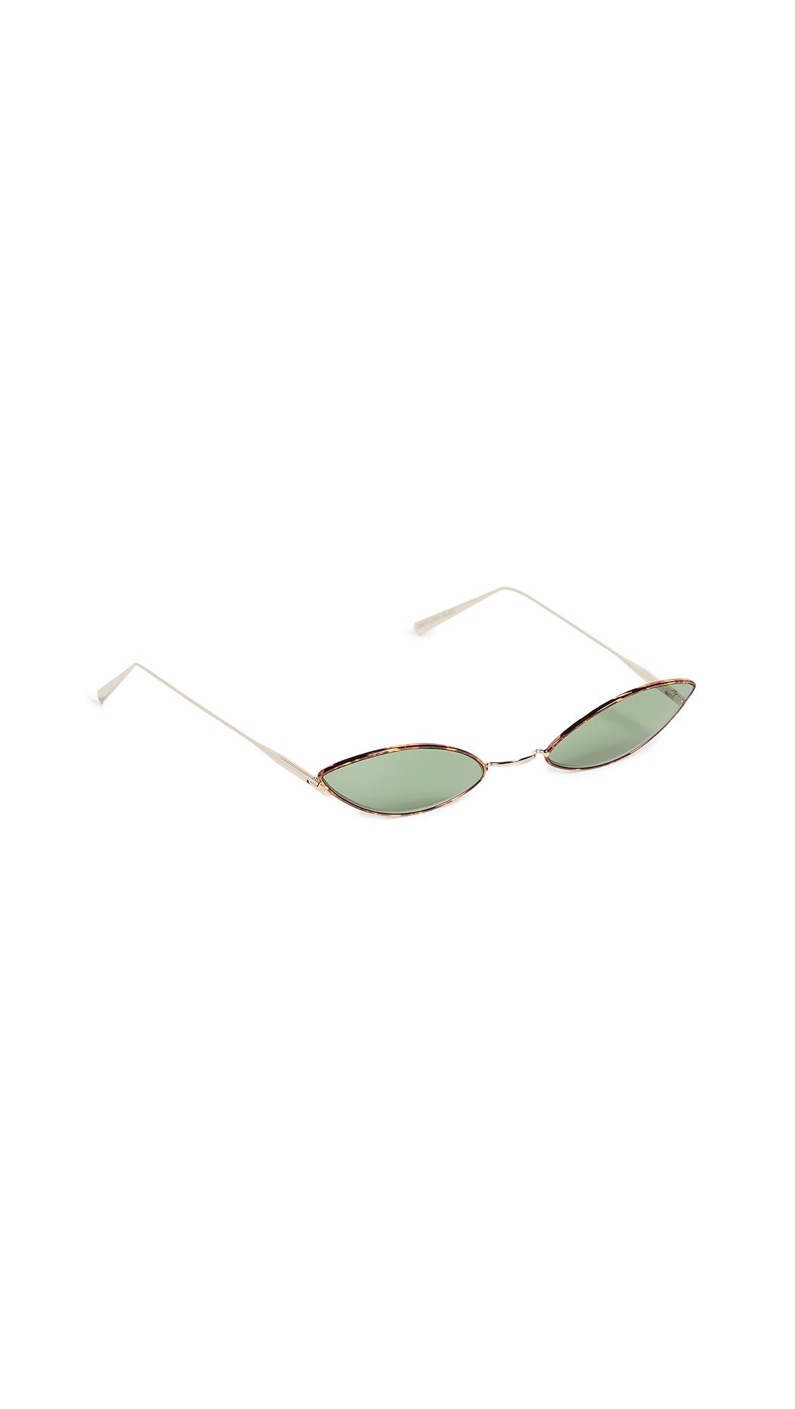 Acne Studios Astaria Print Sunglasses - Tortoise/Green