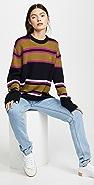 Acne Studios Nimah Multicolor Stripe Face Sweater