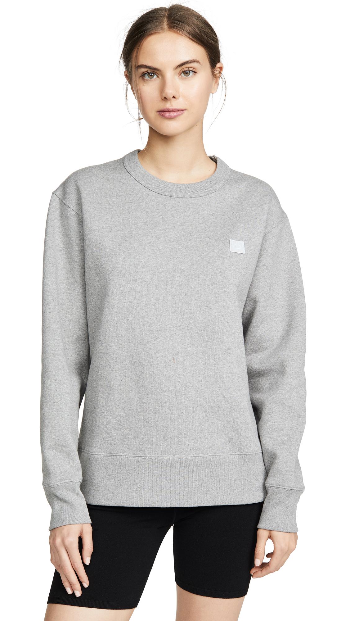 Acne Studios Fairview Face Sweatshirt - Light Grey Melange