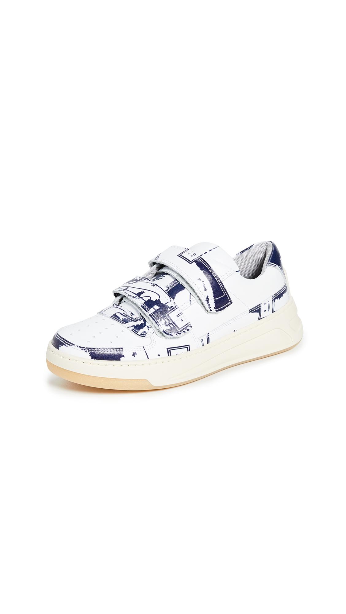 Acne Studios Steffey Map Sneakers - White/Blue