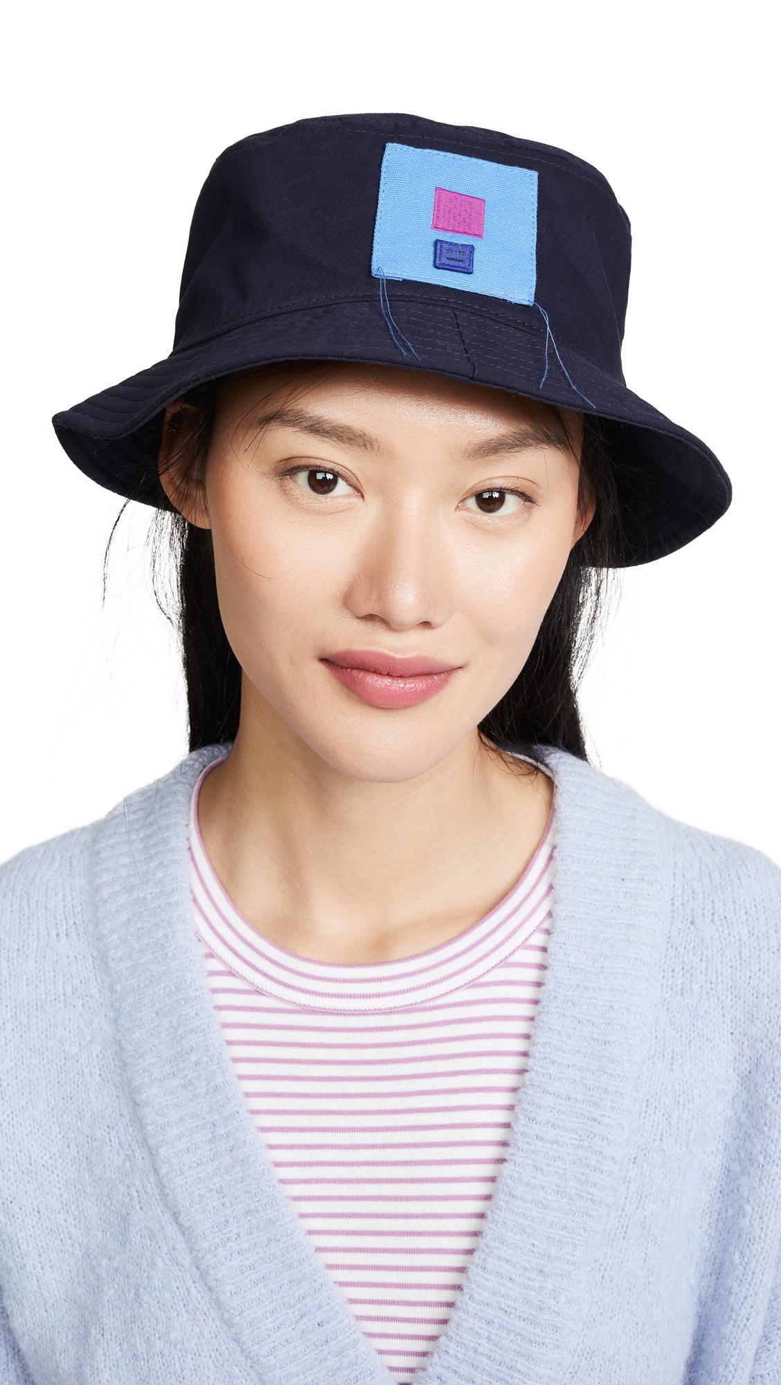 Acne Studios Buk Face Co Tw Flag Bucket Hat - Navy Blue