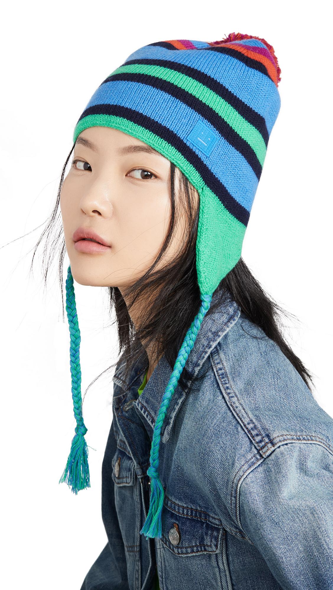 Acne Studios Multi Stripe Face Hat - Blue Multi