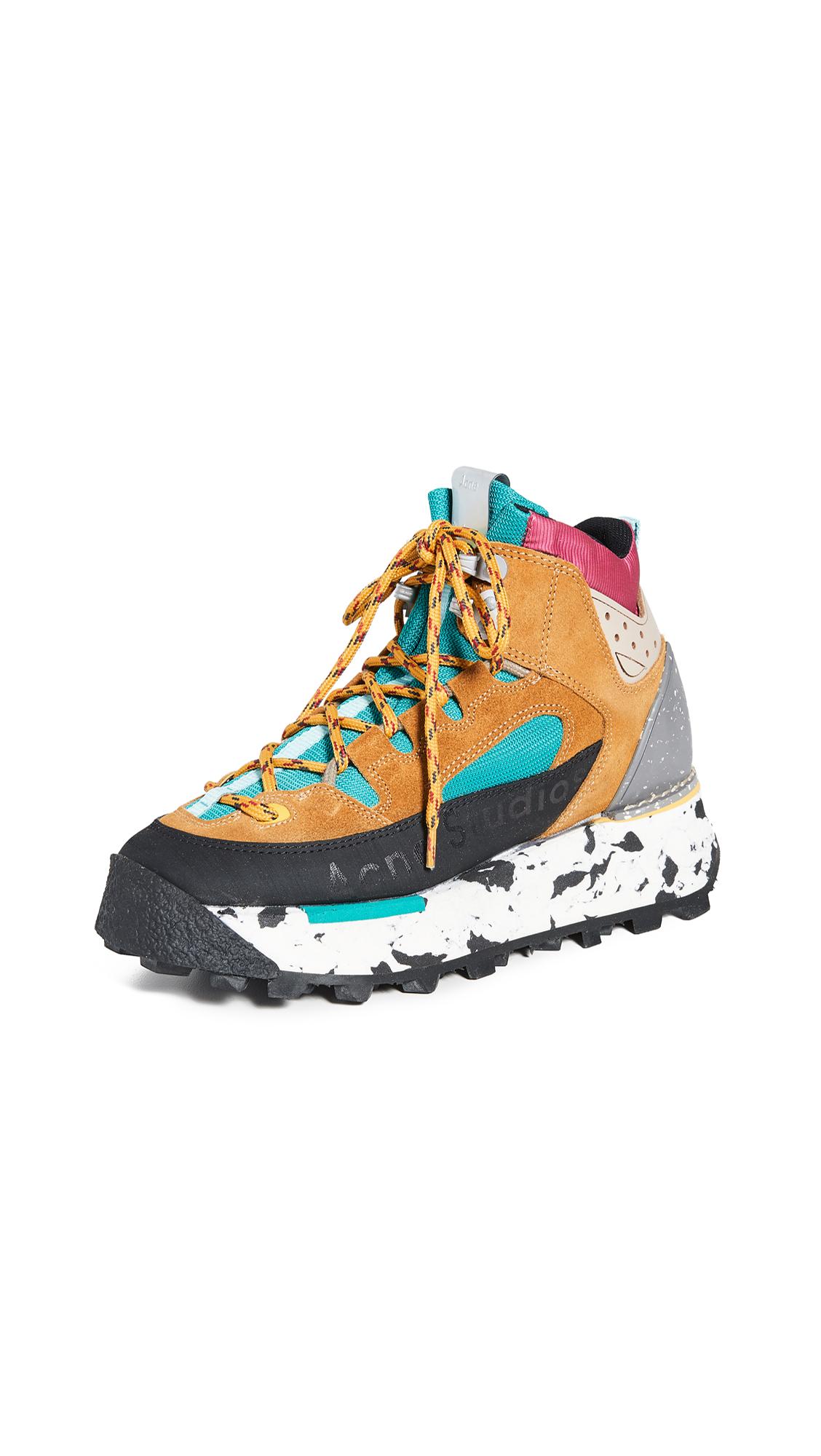 Acne Studios Bertrand W Hiking Sneakers - Multi Brown