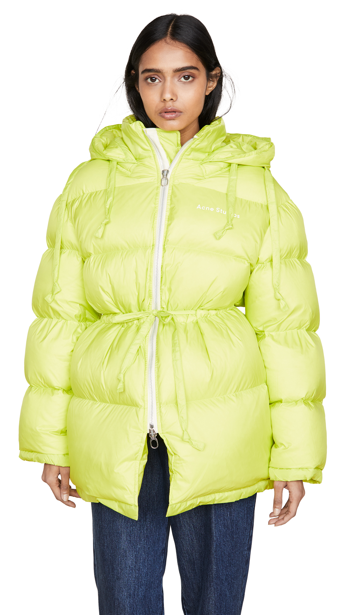 Acne Studios Down Jacket Outerwear - Neon Yellow