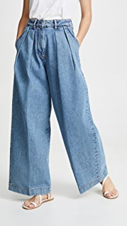 Acne Studios Pakita Blue Trousers