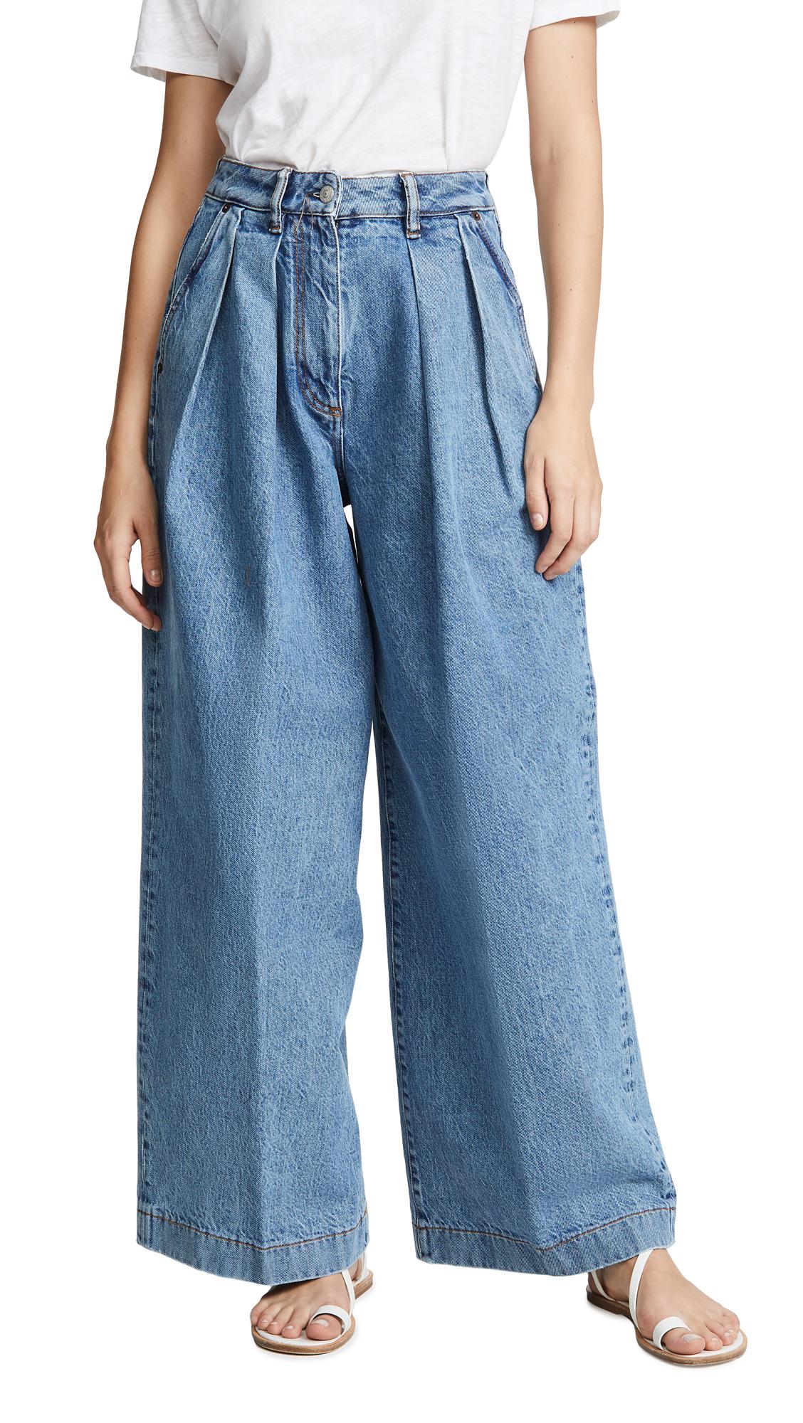 Acne Studios Pakita Blue Trousers - Light Blue