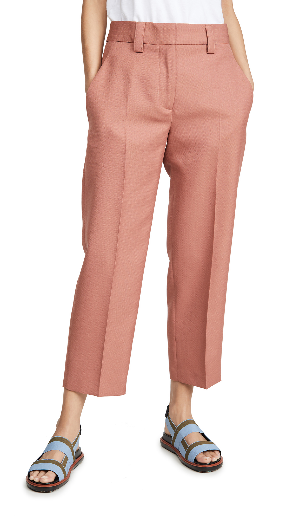 Acne Studios Suiting Trousers - Coral Red