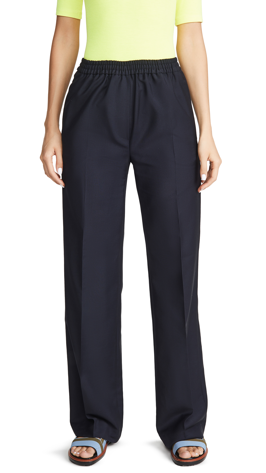 Acne Studios Pammy Wo Mo Trousers - Navy Blue