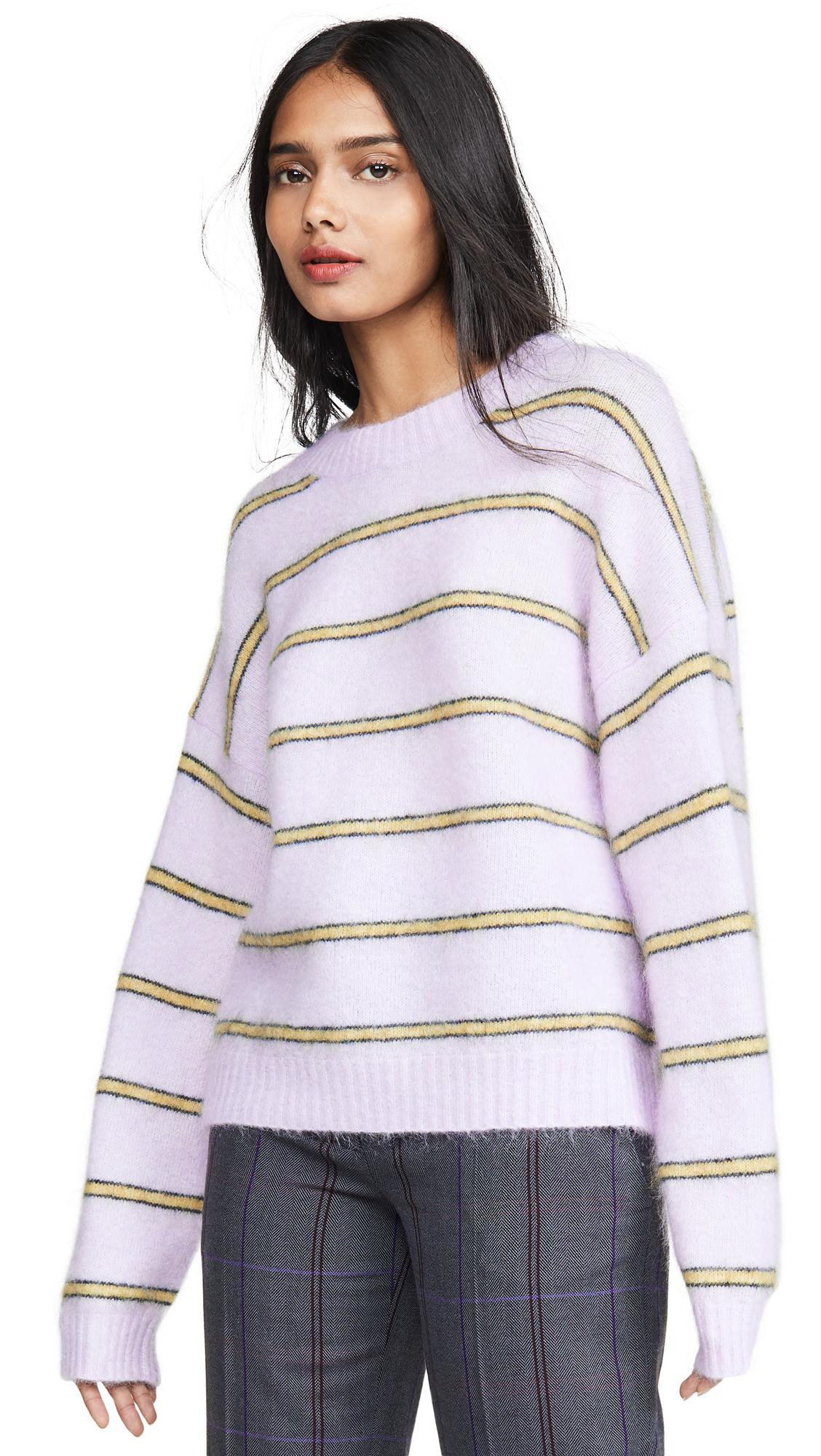Acne Studios Khira Moh Knitwear Sweater - Lilac/Mustard