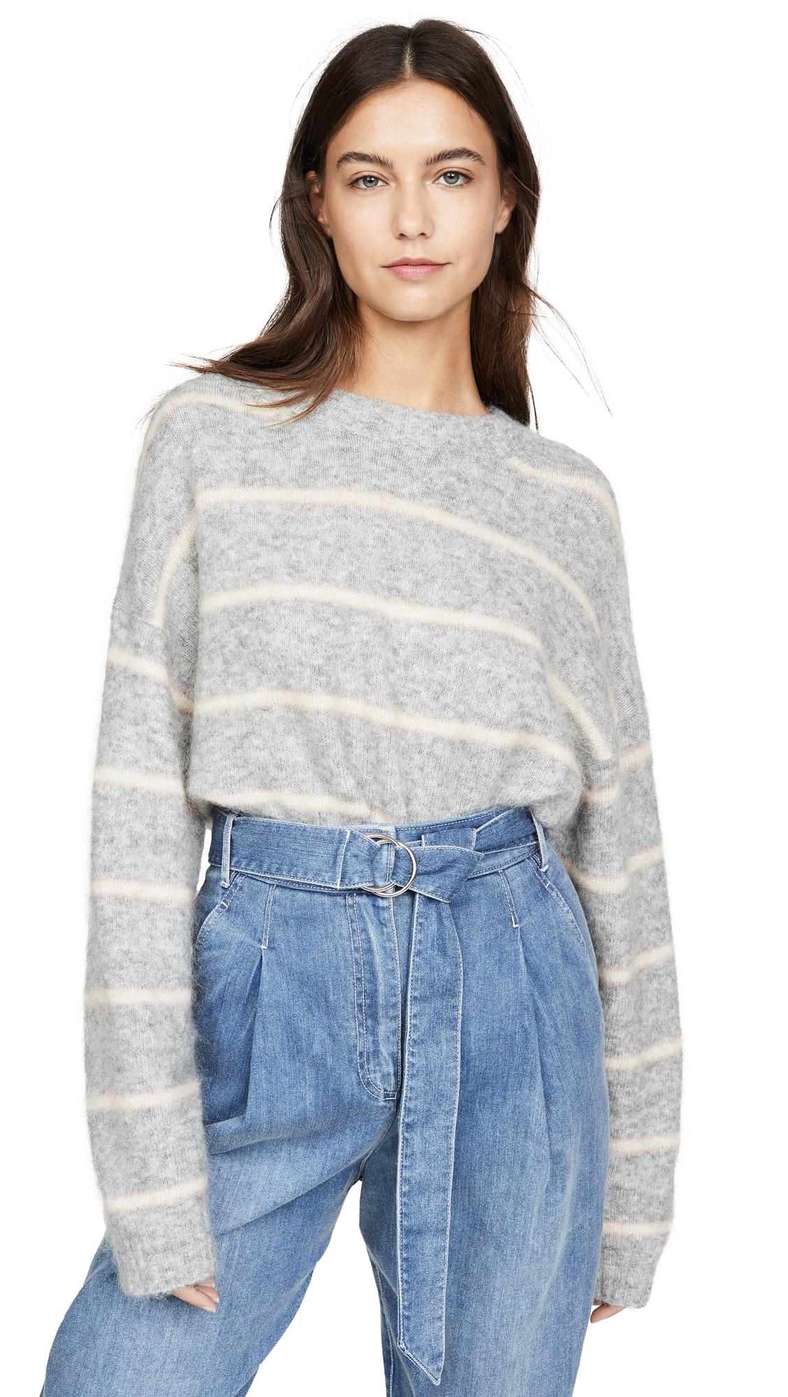 Acne Studios Khira Moh Knitwear Sweater - Grey/Beige