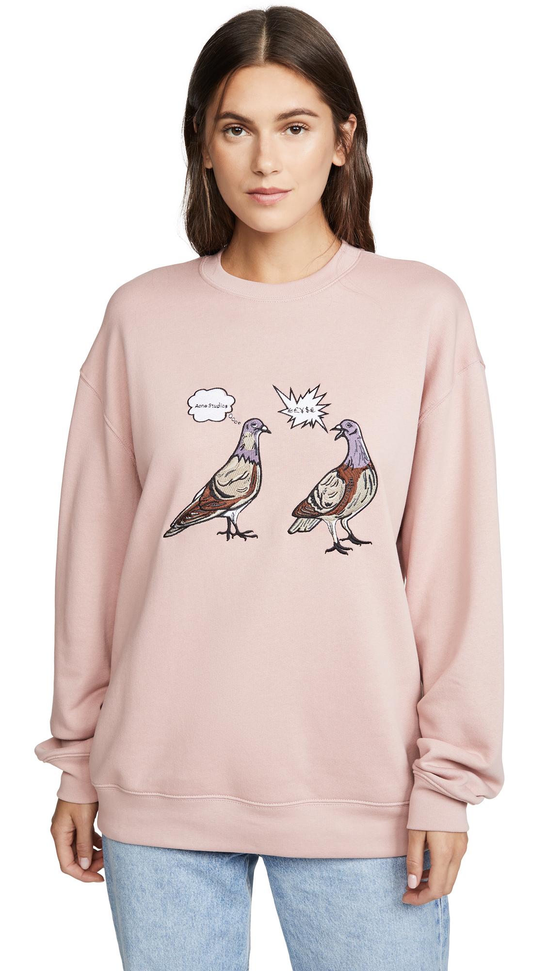 Acne Studios Forba Animal Embellished Sweatshirt - Old Pink