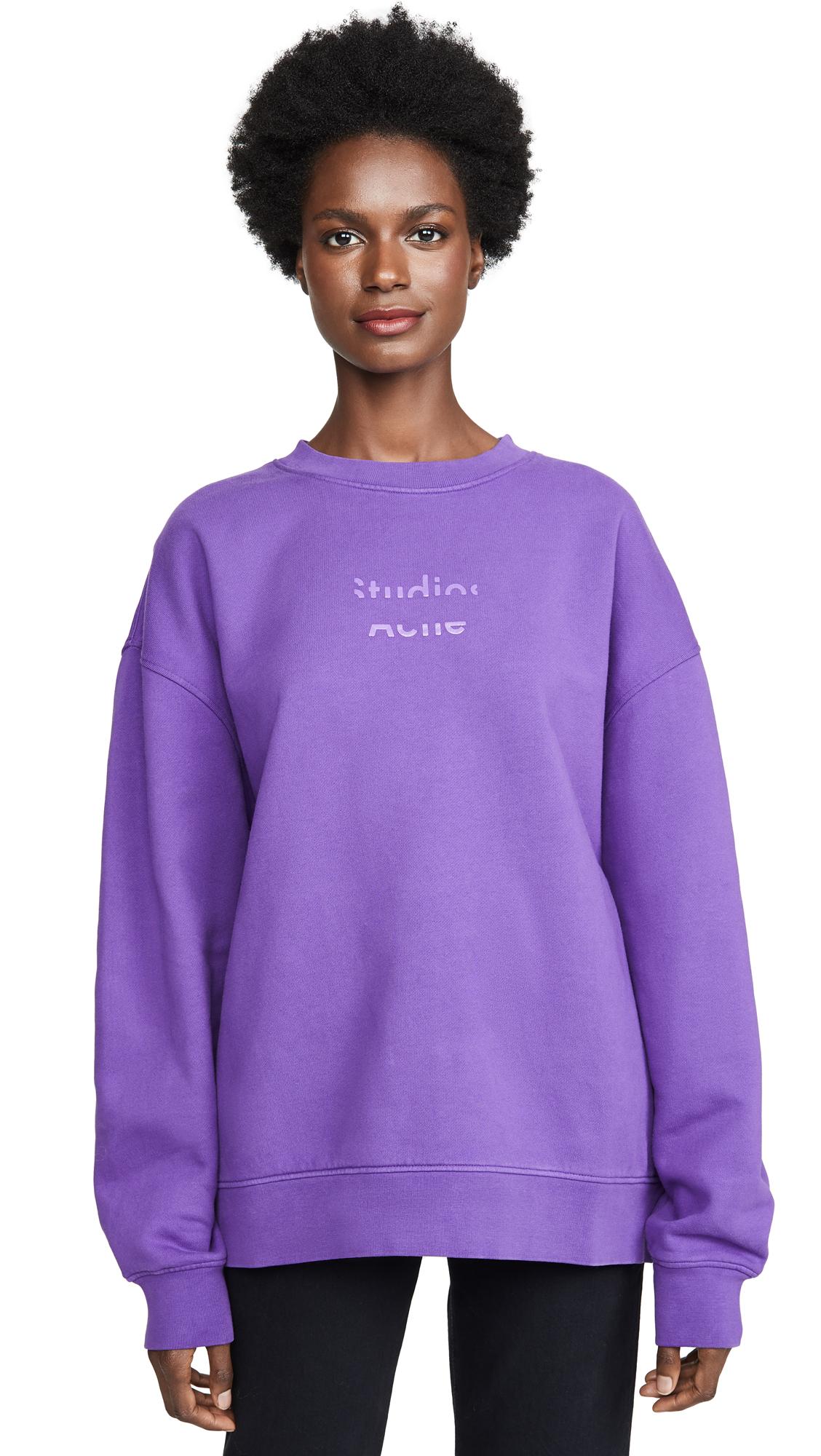 Acne Studios Fyono Logo Sweatshirt - Violet Purple