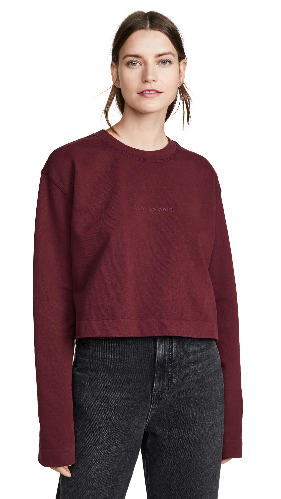 Acne Studios Odice Emboss Sweatshirt - Chocolate Brown